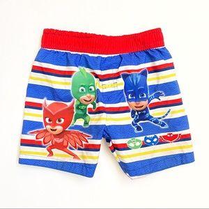 NEW PJ Masks elastic waistband swim trunk shorts